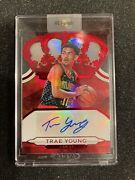 2019 -20 Trae Young Panini Crown Royale Auto Red Die-cut /99
