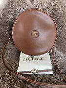 Vintage Brown Leather Canteen Crossbody Bag