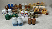 Vintage Lot Of 17 Salt And Pepper Shakers States And Places Texas, Florida, Canada