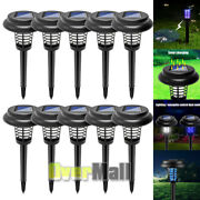 Solar Powered Outdoor Mosquito Fly Bug Insect Zapper Killer Trap Lamp Light Led