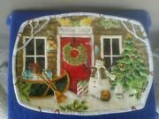 Discontinued 2005-08 Certified International Susan Winget Holiday Lodge Platter