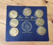 1997 Readers Digest History Of The U.s. Presidents Brass Presidential Coin Set
