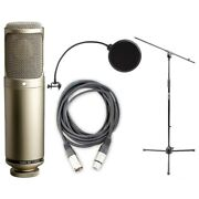 Rode K2 Vacuum Tube Condenser Microphone, Cable, Popfilter And Stand