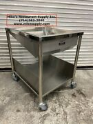 New 34 Donut Glazing Icing Table Solid Stainless Steel Gsw Dn-tbls-n 5424