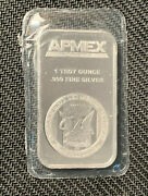 Two Apmex 1 Troy Ounce .999 Fine Silver Bars In A Plastic Wrap