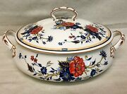 Wow Crown Staffordshire Bone China Floral Asian Penang Round Covered Casserole