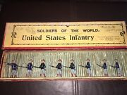 Vintage W. Britain Lead Toy Soldiers,united States Infantry, No. 91 Pre-war,rare