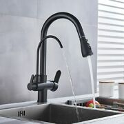 Water Filter Rotating Faucet Dual Spout Purification Kitchen Tap Accessories New