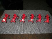 Ertllot Of 6 Tractors 1/16 Scale See Below For Description --great Condition