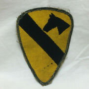Vintage Military Army First Air Cavalry Patch Ag Border Variant
