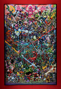 Marvel Characters Collection Comic Book Hero And Villains Poster 24x36 New Mrcc