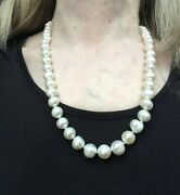 Honora Vintage 20 Graduated White Cultured Baroque Ringed Pearl Necklace,