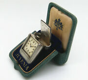 Antique Juvenia 925 Silver Purse Traveling Watch 30-40's