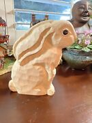 James Hadden Rabbit Hand Carved Wood Hand Painted Vintage