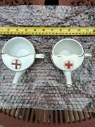Early 20th C.antique Red Cross Invalid Feeder/feeding Cup X 2 Different