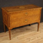 Commode Furniture Chest Of Drawers Dresser Inlaid Wood Antique Style Louis Xvi