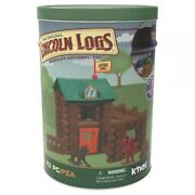 K'nex Lincoln Log-fort Red Pine- Tin Building Set Educational Toy Construct New