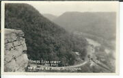 Cf-364 Wv Ansted Lovers Leap Route 60 Real Photo Postcard Rppc West Virginia