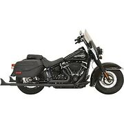 Bassani Black True Duals With 33 Fishtail Mufflers With Baffle 18-20 Flhc/flde