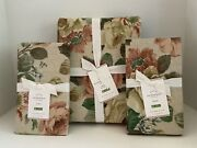 Pottery Barn Rita Floral Queen Duvet 2 Standard Shams New With Tags