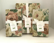 Pottery Barn Rita Floral Queen Duvet 2 Euro Shams New With Tags