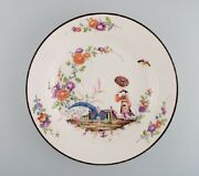 Antique Meissen Bowl In Hand-painted Porcelain In Japanese Style. 19th Century.