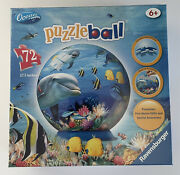 """3d Ocean Ravensburger 5"""" Puzzleball 72 Pieces Age 6+ New In Box Sealed"""