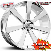Asanti Black Label Abl-15 Chrome 22x9 Custom Wheels Rims Set Of 4
