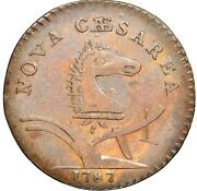 1787 New Jersey Copper, Sprig Above Plow, Maris 63-s, W-5375, R.2, Xf45 Ngc
