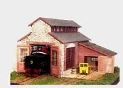 S Scale/sn3/sn2 Wiseman Model Services Backwoods Engine House And Repair Shed Kit