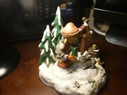 Hummel Peaceful Offerings W/ Friendship In Bloom Scape..tmk7 Price Reduced