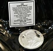 1988 Hawaii Dala Kamehameha The Great One Ounce .999 Silver Coin Rhm Great Cond