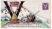 Dorothy Knapp Hand Painted Cachet - D-day 1944 Wwii Patriotic