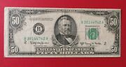 1950e 50 Bill - New York - Federal Reserve Note - Fifty
