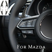 For Mazda 3 6 Cx3 Cx5 Cx9 Real Carbon Steering Wheel Paddle Shifter Extensions