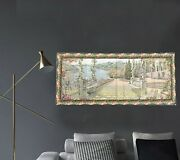 Amazing Vintage Large French Tapestry Romantic Tapsestry Wall Tapestry 2x5 Ft