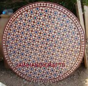 30 Marble Dining Coffee Side Center Corner Mosaic Inlay Table Top Lapis Antique
