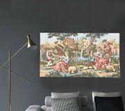 Amazing Vintage Large French Tapestry Medieval Tapsestry Wall Tapestry 2x5 Ft