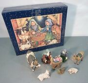 Lang And Wise Set Of 8 Angels And Nativities Away In A Manger Nativity Lisa Blower