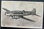 1941 Lancs England Valentines Picture Postcard Cover To Manchester Avro Anson