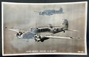 1940 England Valentines Picture Postcard Cover To Hospital Avro Anson Planes
