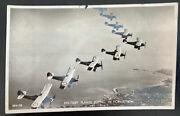 Mint England Valentines Real Picture Postcard Raf Military Planes Flying Formati
