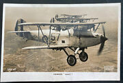 Mint England Valentines Real Picture Postcard Raf Military Plane Hawker Hart