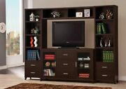 Cappuccino Tv Console Entertainment Center Storage Media Towers