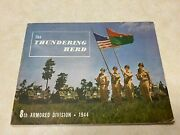 Ww2 1944 Us Army 8th Armored Division Pictorial History Book