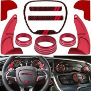 Shift Paddle+air Conditioner Switch Cd Button Cover For Dodge Challenger 15-2020