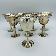 De Uberti Italy Crown Silver Plated Goblets Set Of 8 Unpolished