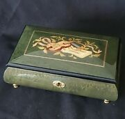 Vintage Reuge Music/jewelry Box Handmade In Italy Inlay 36 Notes Moscow Nights