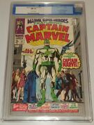 Marvel Super Heroes 12 Cgc 9.4 Off White Pages 1st App Captain Marvel Sa