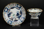 Antique Chinese Export Porcelain Landscape Cup And Saucer 18th Century